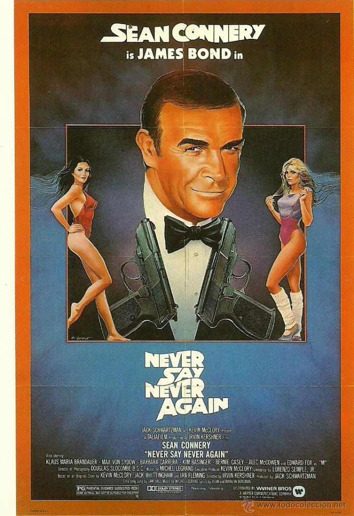 JAMES BOND 007 - NEVER SAY NEVER AGAIN *** ENVIO CERTIFICADO GRATIS*** (Cine - Fotos, Fotocromos y Postales de Películas)