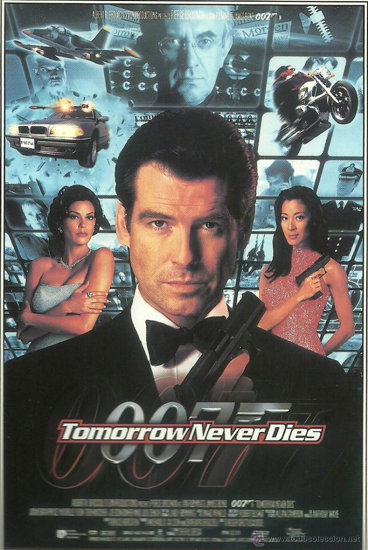 JAMES BOND 007 - TOMORROW NEVER DIES *** ENVIO CERTIFICADO GRATIS*** (Cine - Fotos, Fotocromos y Postales de Películas)