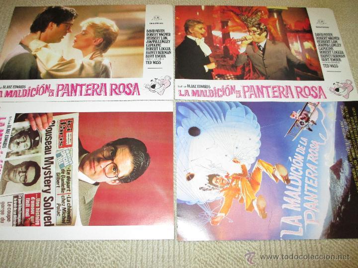 LA MALDICIÓN DE LA PANTERA ROSA, BLAKE EDWARDS, DAVID NIVEN, ROBERT WAGNER 12 FOTOCROMOS LOBBY CARDS (Cine - Fotos, Fotocromos y Postales de Películas)