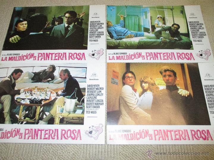 Cine: La maldición de la Pantera Rosa, Blake Edwards, David Niven, Robert Wagner 12 fotocromos lobby cards - Foto 3 - 46591271