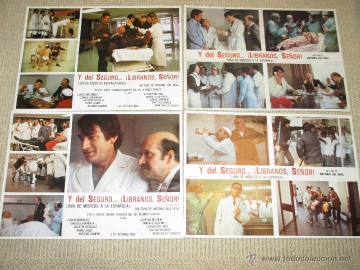 Y DEL SEGURO LIBRANOS SEÑOR, ANTONIO BANDERAS, ALFONSO CABEZA, ATLÉTICO DE MADRID 12 FOTOCROMOS (Cine - Fotos, Fotocromos y Postales de Películas)