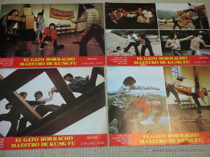 EL GATO BORRACHO MAESTRO DE KUNG FU, DE CHEUNG SUM, YUEN SIU TIN, 12 FOTOCROMOS LOBBY CARDS (Cine - Fotos, Fotocromos y Postales de Películas)