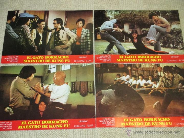 Cine: El gato borracho maestro de Kung Fu, de Cheung Sum, Yuen Siu Tin, 12 fotocromos lobby cards - Foto 2 - 46597603