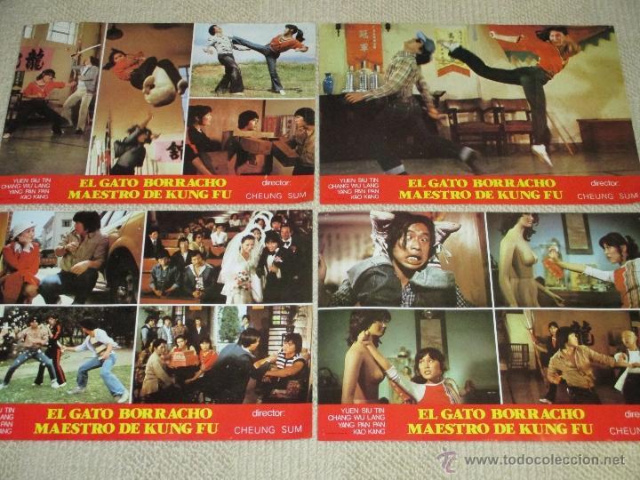 Cine: El gato borracho maestro de Kung Fu, de Cheung Sum, Yuen Siu Tin, 12 fotocromos lobby cards - Foto 3 - 46597603
