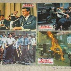 Cine: F.I.S.T. SÍMBOLO DE FUERZA, STALLONE, NORMAN JEWISON, 12 FOTOCROMOS LOBBY CARDS RAMBO. Lote 46597979