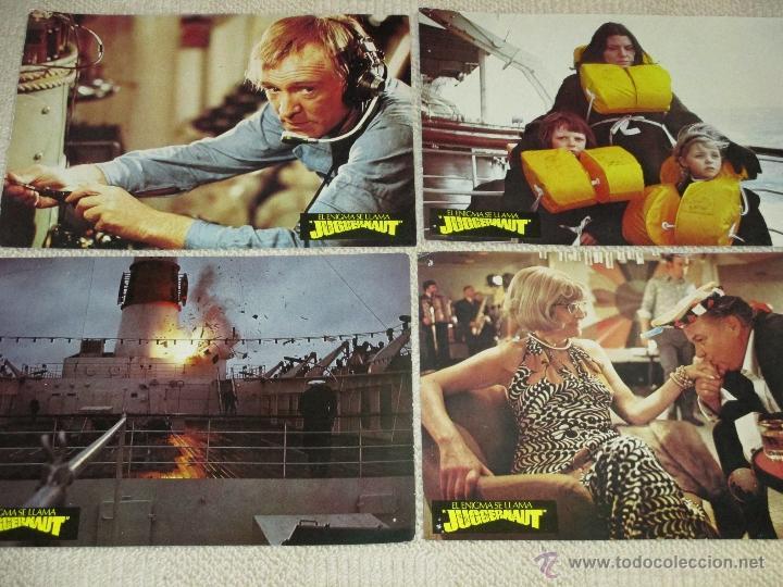 EL ENIGMA SE LLAMA JUGGERNAUT, RICHARD HARRIS, ANTHONY HOPKINS OMAR SHARIF 12 FOTOCROMOS LOBBY CARDS (Cine - Fotos, Fotocromos y Postales de Películas)