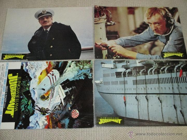Cine: El enigma se llama Juggernaut, Richard Harris, Anthony Hopkins Omar Sharif 8 fotocromos lobby cards - Foto 1 - 46598243