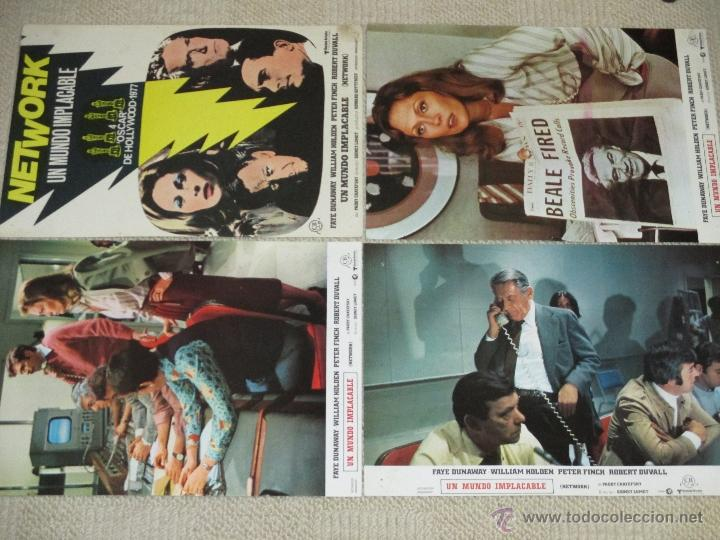 Cine: Network, un mundo implacable, Faye Dunaway, William Holden, Robert Duvall 12 fotocromos lobby cards - Foto 2 - 46599025
