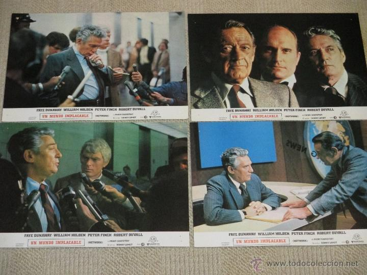 Cine: Network, un mundo implacable, Faye Dunaway, William Holden, Robert Duvall 12 fotocromos lobby cards - Foto 3 - 46599025