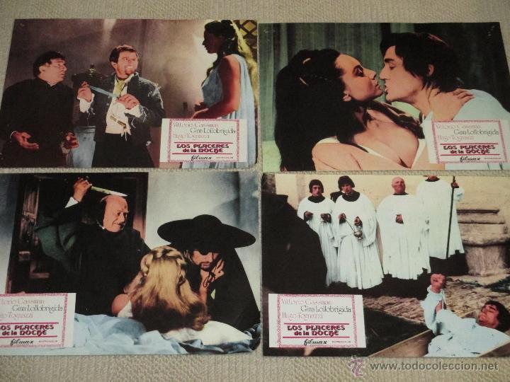 Cine: Los placeres de la noche, Vittorio Gassman Gina Lollobrigida Hugo Tognazzi 9 fotocromos lobby cards - Foto 2 - 46599221