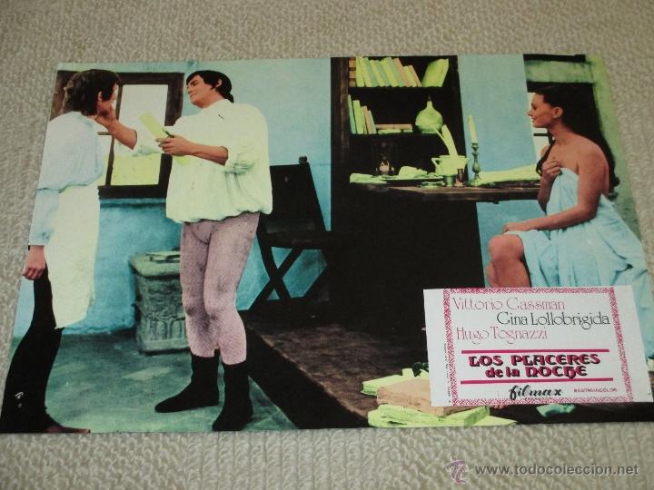 Cine: Los placeres de la noche, Vittorio Gassman Gina Lollobrigida Hugo Tognazzi 9 fotocromos lobby cards - Foto 3 - 46599221
