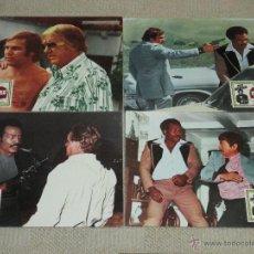Cine: MASACRE, JIM BROWN, 10 FOTOCROMOS LOBBY CARDS. Lote 46641193