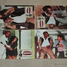 Cine: MASACRE, JIM BROWN, 6 FOTOCROMOS LOBBY CARDS. Lote 46641540