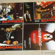 Cine: SCANNERS, DE DAVID CRONENBERG, 12 FOTOCROMOS LOBBY CARDS TERROR GORE. Lote 46642065