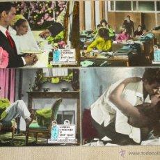 Cine: CÓMO, CUANDO Y POR QUÉ, DE ANTONIO PIETRANGELI 5 FOTOCROMOS ANTIGUOS DE CARTÓN DURO, LOBBY CARDS. Lote 46662221