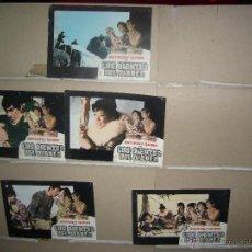 Cine: LOS DIENTES DEL DIABLO NICHOLAS RAY ANTHONY QUINN 5 FOTOCROMOS ORIGINALES B2(619). Lote 46715514