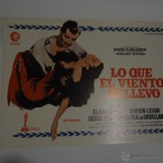 Cine: LOTE DE LAMINAS DE LA PELICULA LO QUE EL VIENTO SE LLEVO, MUY BIEN CONSERVADOS.. Lote 46954496