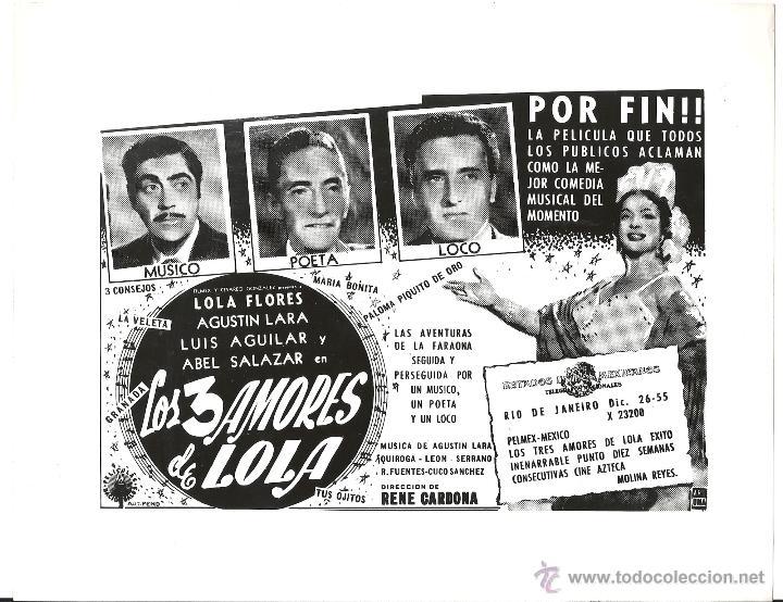 F15340 LOLA TORBELLINO LOLA FLORES FOTO B/N ORIGINAL ESPAÑOLA (Cine - Fotos, Fotocromos y Postales de Películas)