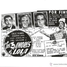 Cine: F15340 LOLA TORBELLINO LOLA FLORES FOTO B/N ORIGINAL ESPAÑOLA. Lote 47003393