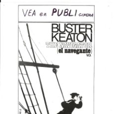 Cine: F28583D EL NAVEGANTE BUSTER KEATON FOTO B/N ORIGINAL ESPAÑOLA. Lote 47003402