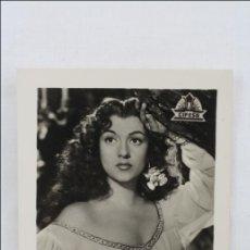 Cinema: ANTIGUA FOTOGRAFÍA AMPARITO RIVELLES EN LA DUQUESA DE BENAMEJI - PUBLICIDAD ROLLFILMS - 9,5 X 7 CM. Lote 47672431
