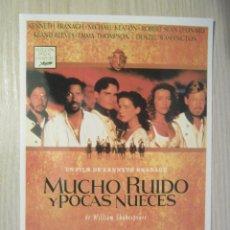 Cine: FOTOPOSTAL MUCHO RUIDO Y POCAS NUECES. Lote 47866496