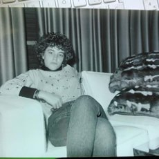 Cine: CRISTINA MARCOS EN EL RODAJE DE LA PROXIMA ESTACION, 1986, FOTO ORIGINAL, 26*14 APROX. Lote 48657547