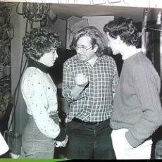 Cine: ANTONIIO MERCERO, CRISTINA MARCOS Y AGUSTIN GONZALEZ, FOTO ORIGINAL RODAJE LA PROXIMA ESTACION, 1986. Lote 48657578