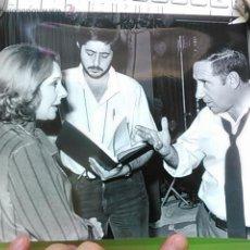 Cine: ALFREDO LANDA Y LOLA HERRERA, FOTO ORIGINAL EN EL RODAJE DE LA PROXIMA ESTACION, 1986. Lote 48657606