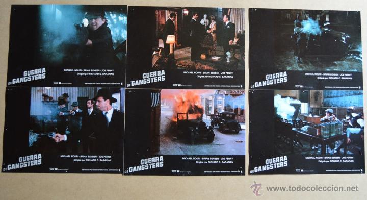 GUERRA DE GANSTERS LOTE 10 FOTOCROMOS ORIGINALES (Cine - Fotos, Fotocromos y Postales de Películas)
