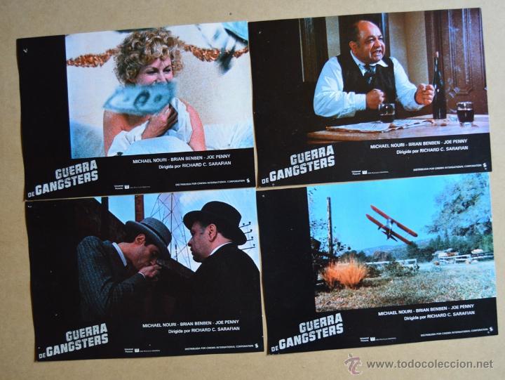 Cine: GUERRA DE GANSTERS LOTE 10 FOTOCROMOS ORIGINALES - Foto 2 - 49094032