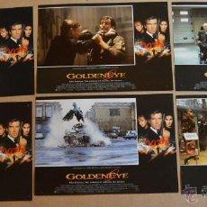 Cine: GOLDENEYE PIERCE BROSNAN 007 LOTE DE 10 FOTOCROMOS ORIGINALES. Lote 49128796