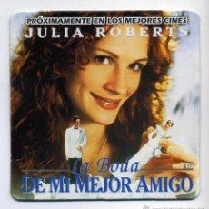 Cinema: LA BODA DE MI MEJOR AMIGO, CON JULIA ROBERS. POSAVASOS.. Lote 201188841