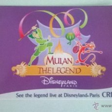 Cine: POSTAL MULAN THE LEGEND, DISNEYLAND PARIS (1998-1999), SIN CIRCULAR. Lote 49324923