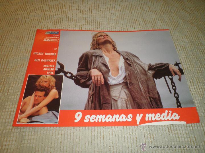 Cine: LOTE 10 FOTOCROMOS NUEVE SEMANAS Y MEDIA Kim Basinger Mickey Rourke CINE - Foto 4 - 49432919