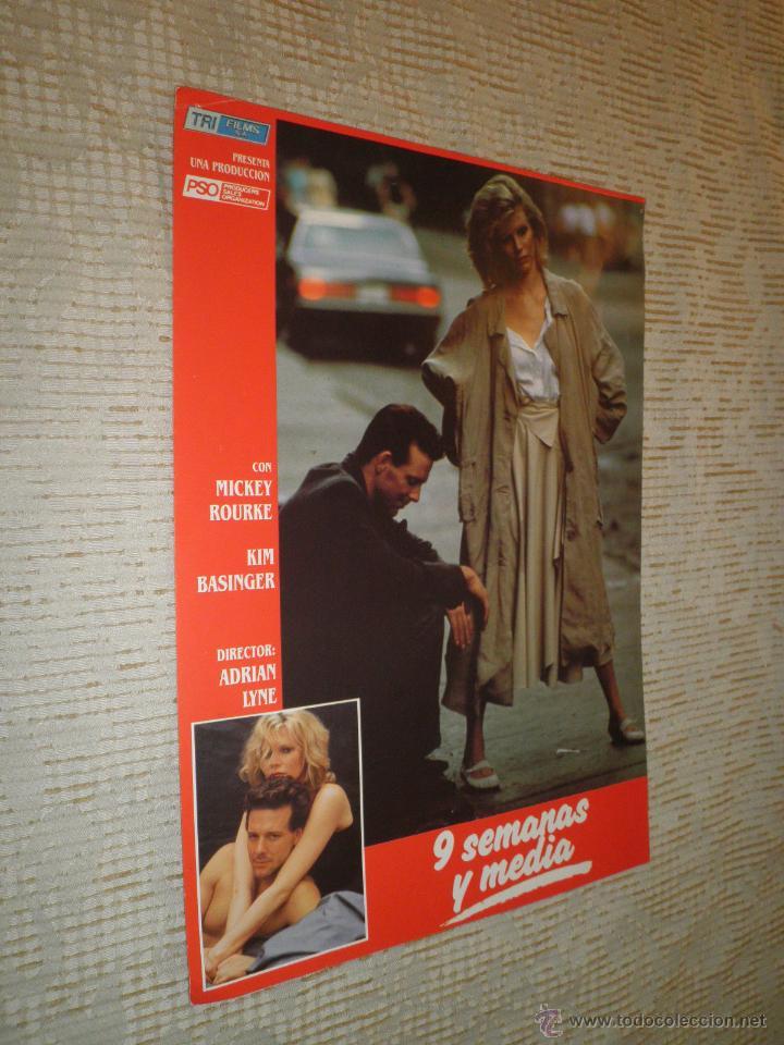Cine: LOTE 10 FOTOCROMOS NUEVE SEMANAS Y MEDIA Kim Basinger Mickey Rourke CINE - Foto 5 - 49432919