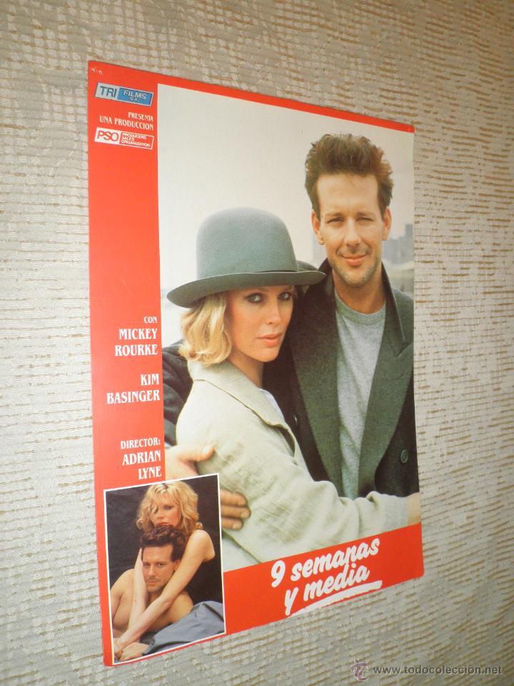 Cine: LOTE 10 FOTOCROMOS NUEVE SEMANAS Y MEDIA Kim Basinger Mickey Rourke CINE - Foto 6 - 49432919