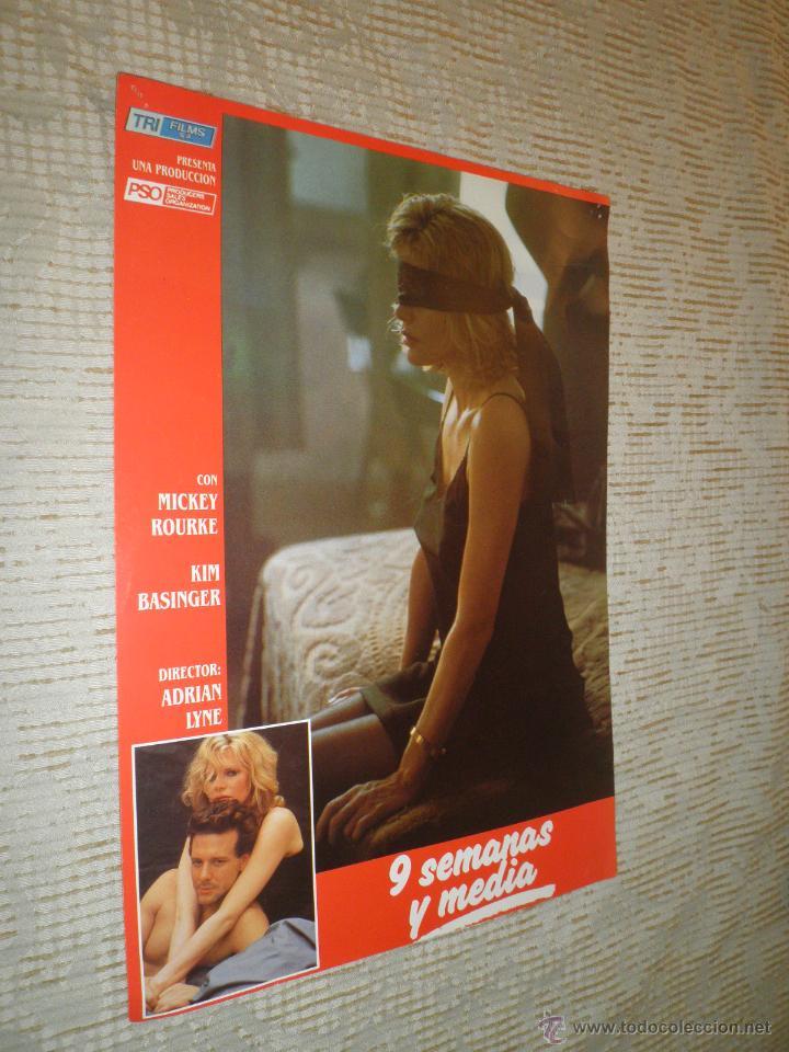 Cine: LOTE 10 FOTOCROMOS NUEVE SEMANAS Y MEDIA Kim Basinger Mickey Rourke CINE - Foto 7 - 49432919