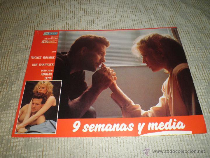 Cine: LOTE 10 FOTOCROMOS NUEVE SEMANAS Y MEDIA Kim Basinger Mickey Rourke CINE - Foto 8 - 49432919