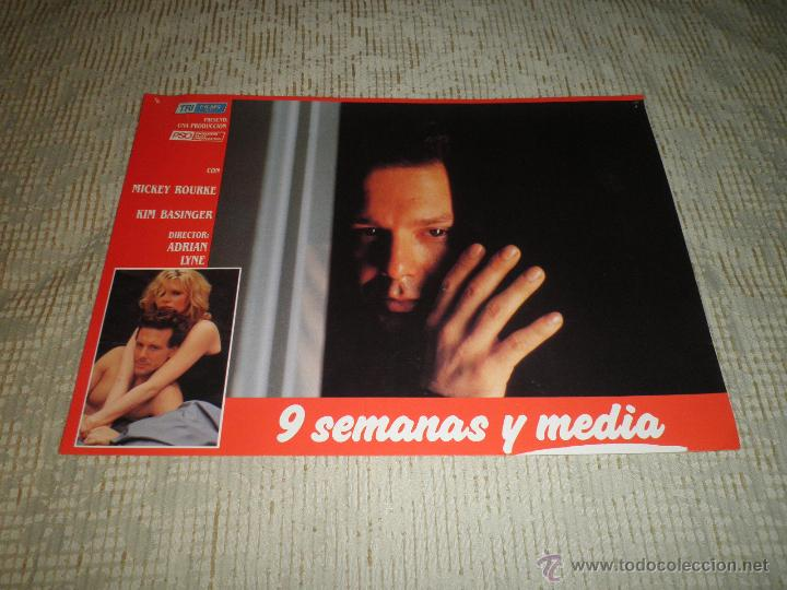 Cine: LOTE 10 FOTOCROMOS NUEVE SEMANAS Y MEDIA Kim Basinger Mickey Rourke CINE - Foto 9 - 49432919