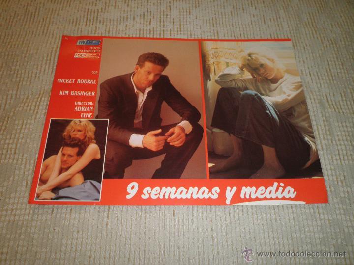 Cine: LOTE 10 FOTOCROMOS NUEVE SEMANAS Y MEDIA Kim Basinger Mickey Rourke CINE - Foto 10 - 49432919