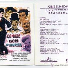 Cine: CÓMICOS CON PIANISTA (EL MUNDO DE LA RISA). PROGRAMA CASERO. CON CHAPLIN Y OTROS.. Lote 57390065