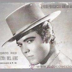 Cine: POSTAL ACTOR PEDRITO RICO.. Lote 49668460