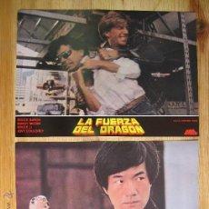 Cine: LA FUERZA DEL DRAGON CON BRUCE LI, BRUCE BARON - SERIE COMPLETA DE FOTOCROMOS - LOBBY CARDS- . Lote 49891778