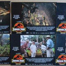 Cine: JURASSIC PARK STEVEN SPIELBERG LOTE DE 10 FOTOCROMOS ORIGINALES . Lote 49928327