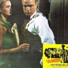 Cine: LA JAURIA HUMANA FOTOCROMO ORIGINAL DEL ESTRENO DE LA PELICULA LOBBY CARD MARLON BRANDO. Lote 50295487