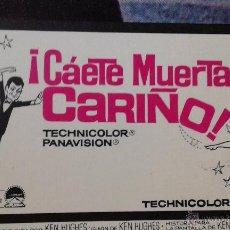 Cine: 10 FOTOCROMOS DE LA PELICULA --CAETE MUERTA CARIÑO. Lote 51230331