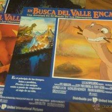 Cine: EN BUSCA DEL VALLE ENCANTADO. 3 FOTOCROMOS O FOTOGRAMAS. . Lote 51498653