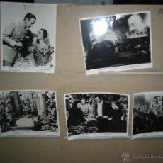 Cine: LO QUE EL VIENTO SE LLEVO 5 FOTOS ORIGINALES DE LA DISTRIBUIDORA YY(1185). Lote 51551971