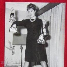 Cine: FOTOGRAFIA ORIGINAL 23,5CMX16,5CM.CONCHITA VELASCO. 1962.. Lote 51892744